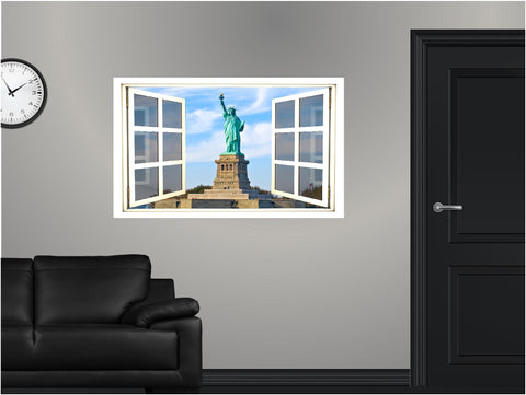 WindowScape Statue Of Liberty Wall Decal!