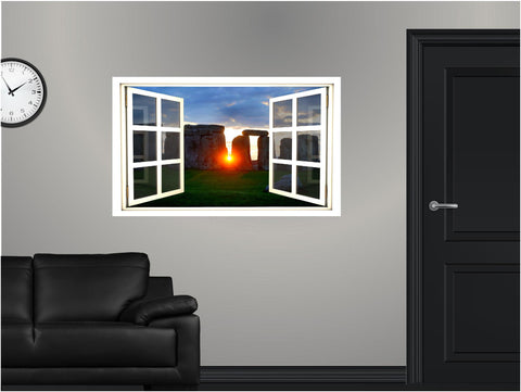 WindowScape Stonehenge Sunset Wall Decal!