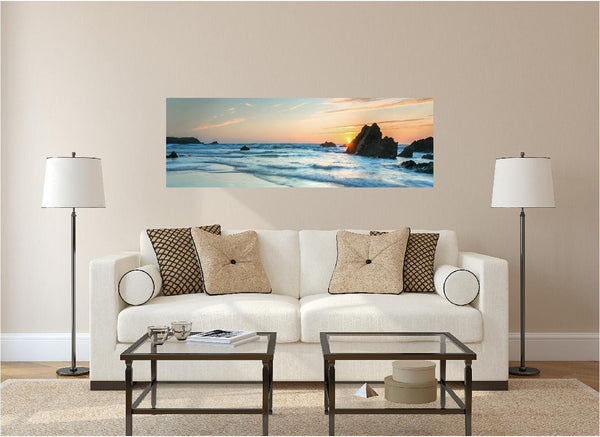 Panoramic Sunset Over Sea Rocks #1 Wall Decal!