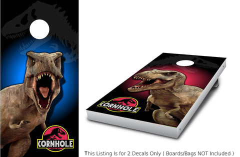 T-REX Corn hole Wrap set!