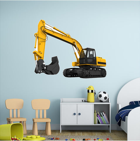 Tractor Excavator #1 Wall Decal