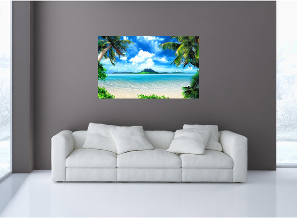 MiniMural: Tropical Hawaiian Island Wall Decal!
