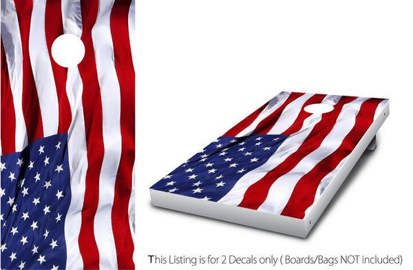 USA AMERICA FLAG #1 Cornhole Wrap Set!