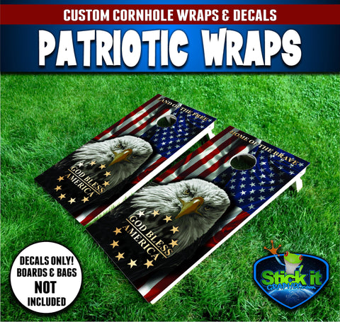 American Flag Eagle #2 Patriotic Wrap Set!