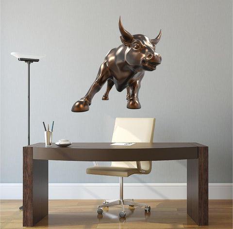 Wall Street Charging Bull #1 Wall Decal