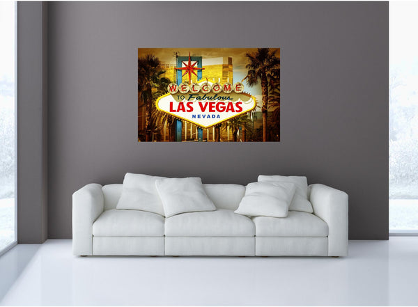 MiniMural: Welcome To Las Vegas Wall Decal!