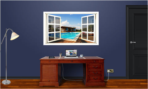 WindowScape Beach House #1 Wall Decal!