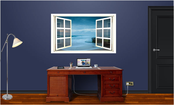 WindowScape Beach At Dusk Wall Decal!