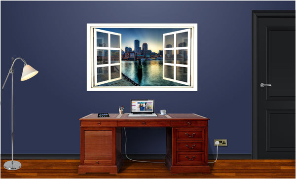 WindowScape Boston Sunset #1 Wall Decal!