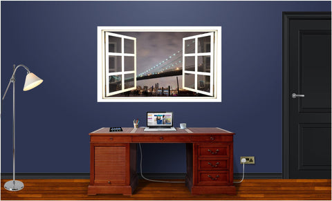 WindowScape Bridge #1 Wall Decal!