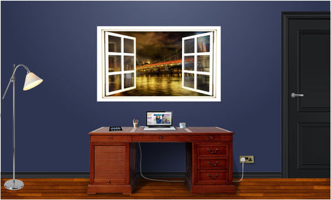 WindowScape Bridge #3 Wall Decal!
