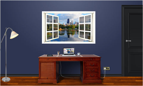 WindowScape Chicago Morning Wall Decal!