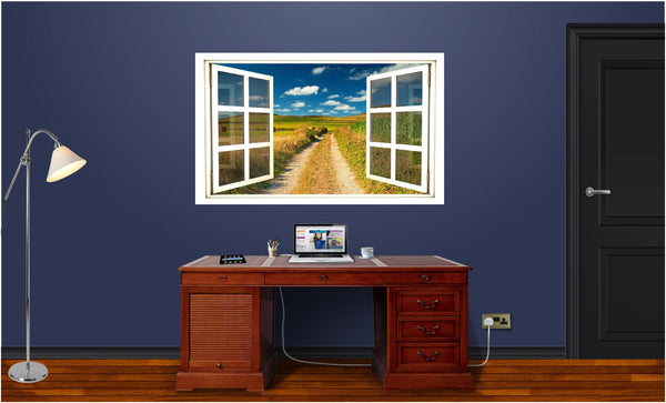 WindowScape Country Road #1 Wall Decal!