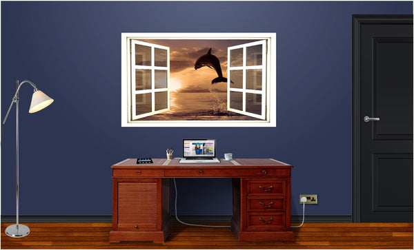 WindowScape Dolphin #1 Wall Decal!