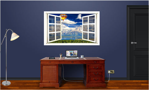 WindowScape Hot Air Balloon #1 Wall Decal!