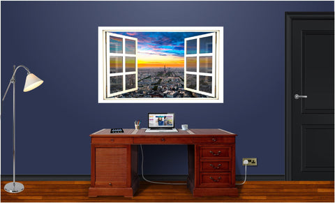 WindowScape Paris At Dawn Wall Decal!