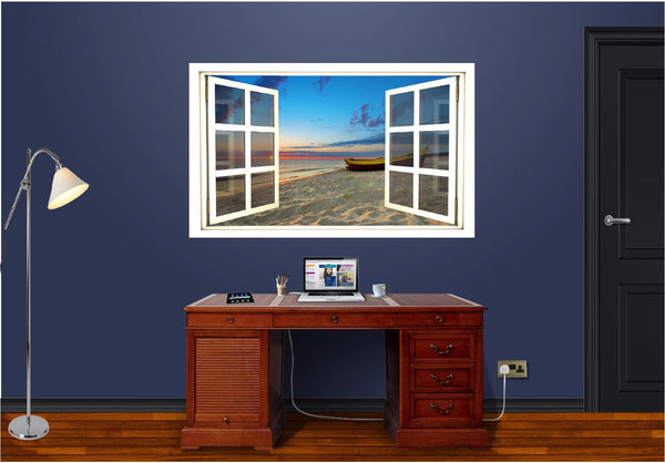 WindowScape Beach At Sunset #1 Wall Decal!