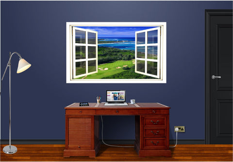 WindowScape Golf Course Ocean #1 Wall Decal!