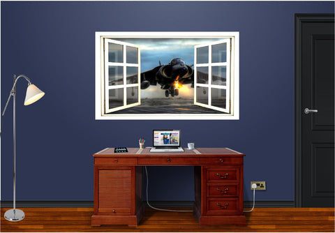 WindowScape Jet Takeoff Wall Decal!