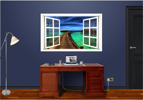 WindowScape Tropical #1 Wall Decal!