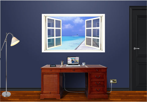 WindowScape Tropical #2 Wall Decal!