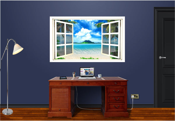 WindowScape Tropical #3 Wall Decal!