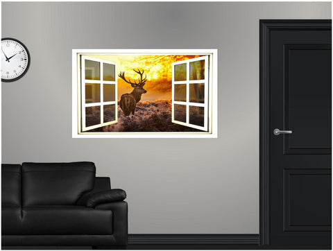WindowScape Deer Grazing Wall Decal!