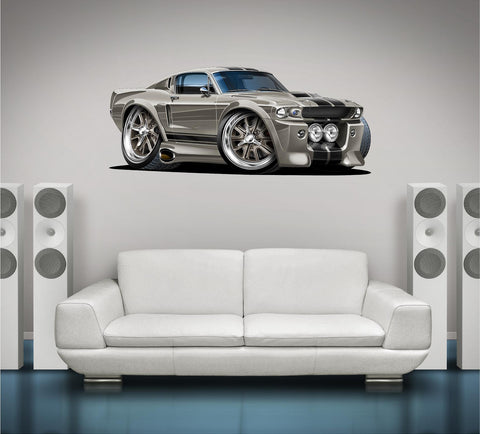 1967 Shelby Mustang GT500 ELEANOR Classic Car Wall Graphic Gone in 60 seconds