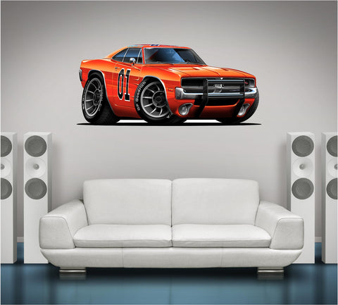Dukes of Hazzard General Lee Wall Decal!