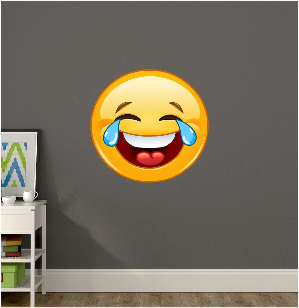 Laughing Emoji Wall Decal Stickit Graphix - Emoji wall decals