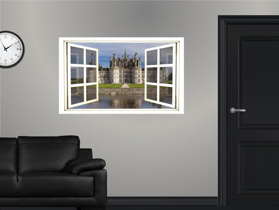 WindowScape Modern Castle #1 Wall Decal!