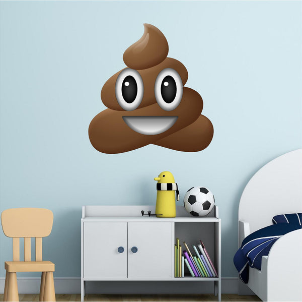 Happy Pile of Poo Emoji Wall Decal!