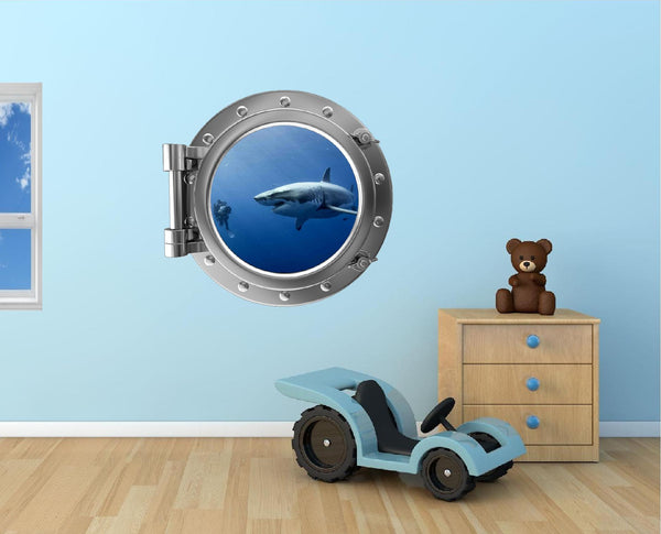 Portscape Shark #5 Wall Decal!