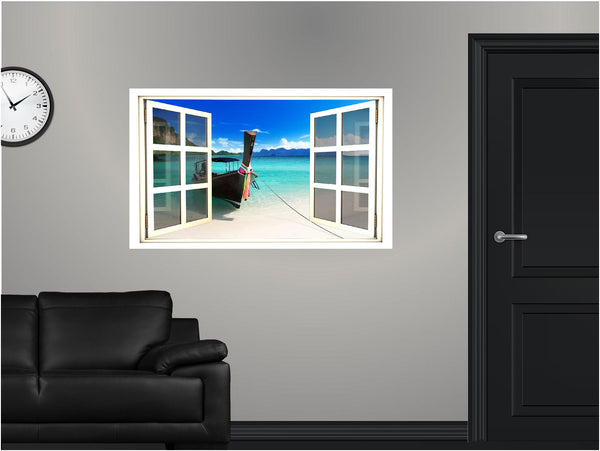 WindowScape Tropical #4 Wall Decal!