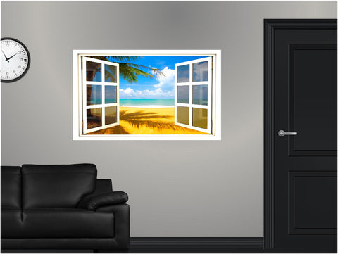 WindowScape Tropical #5 Wall Decal!