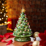 ceramic tree, 2-in-1, changeable, replace, colorful, vintage, retro, holiday decor, decorating, holiday season