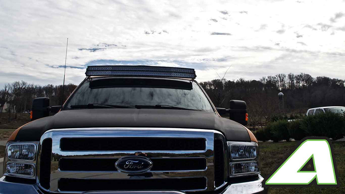 Led Light Bar Roof Mount Double Stack Ford Super Duty F 250 350 2004 Lighting Apoc Industries