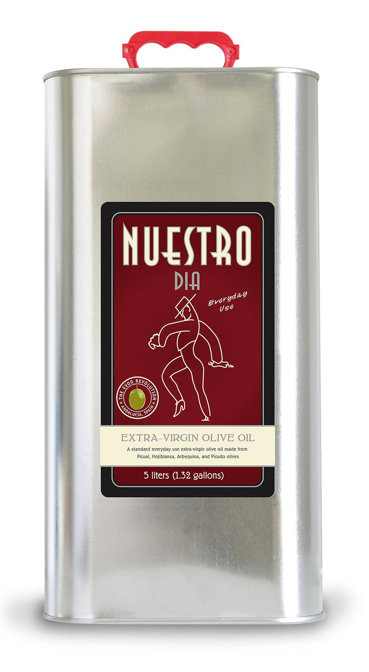 NUESTRO DIA Extra-Virgin Olive Oil from Spain, 5 liter tin - SOLEX CATSMO FINE FOODS