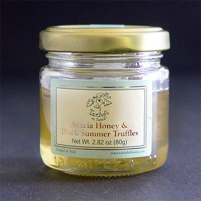 Acacia Honey with Black Summer Truffles, 80g - SOLEX CATSMO FINE FOODS