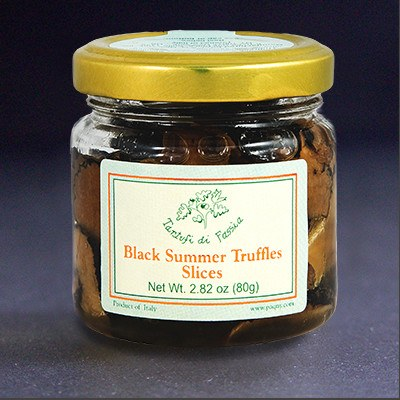 Tartufi di Fassia Black Summer Truffle Slices, 80g