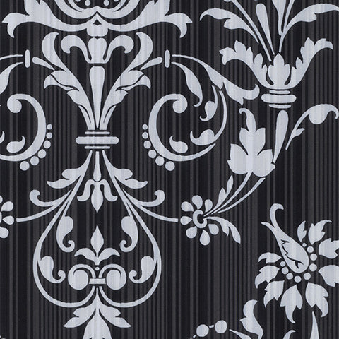 Damask in Black and Silver - CS27361