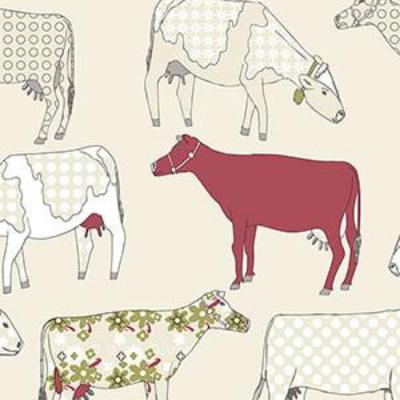Cow Parade, Red, Cream Patton KE29930
