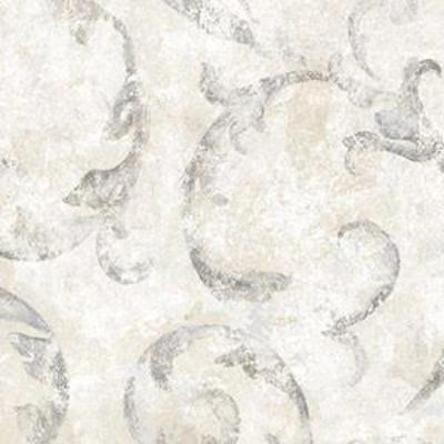 Acanthus Scroll, Grey, Beige, Silver Patton NT33742