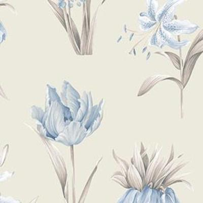 Botanical Floral, Beige, Blue, Grey Patton PA34239