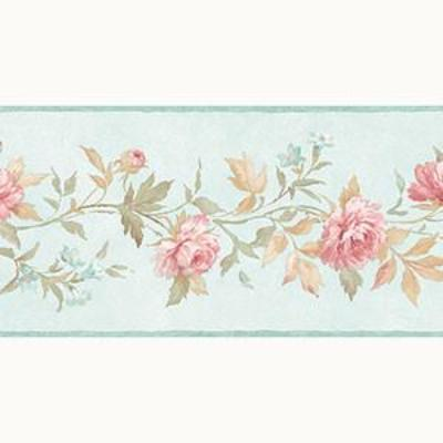 Casual Rose Border, Teal, Pink, Sage Patton PP79472