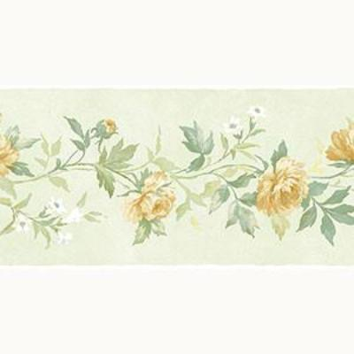 Casual Rose Border, Green, Yellow Patton PP79473