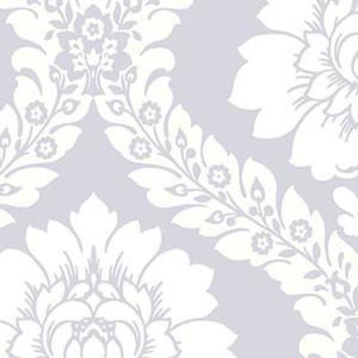Daisy Damask, Silver, Cream Patton SH34519