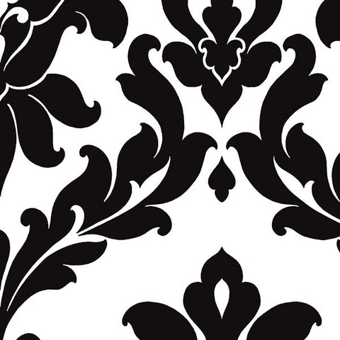 Large Scale Damask in Black and White - VG26230P
