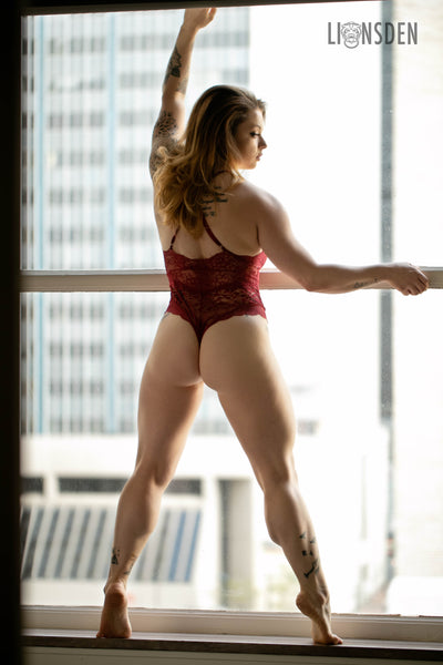 Lions Den Boudoir Photoshoot IMGCR8TIVE Red Lingerie Sexy Photography