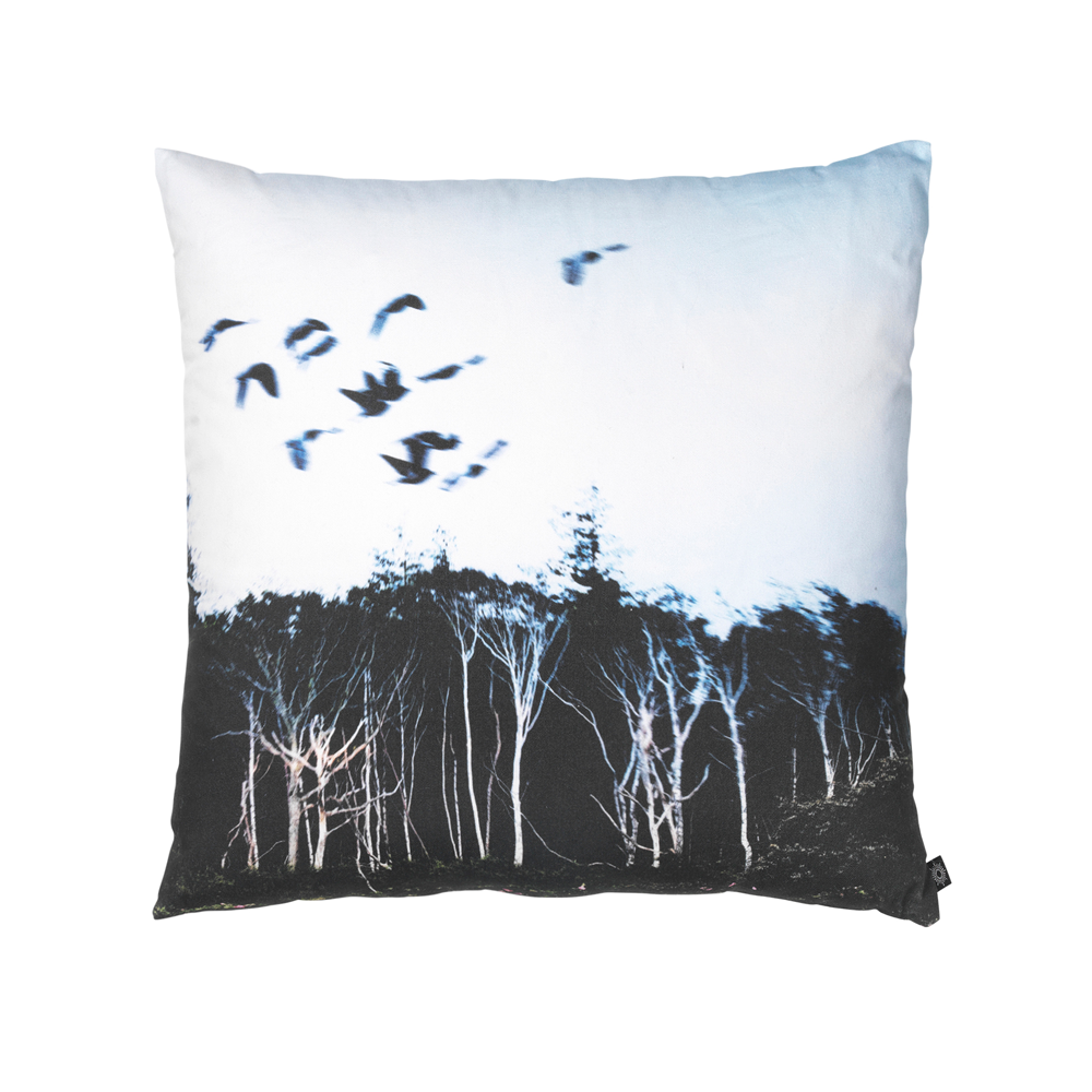 Trees and Birds Decorative Pillow